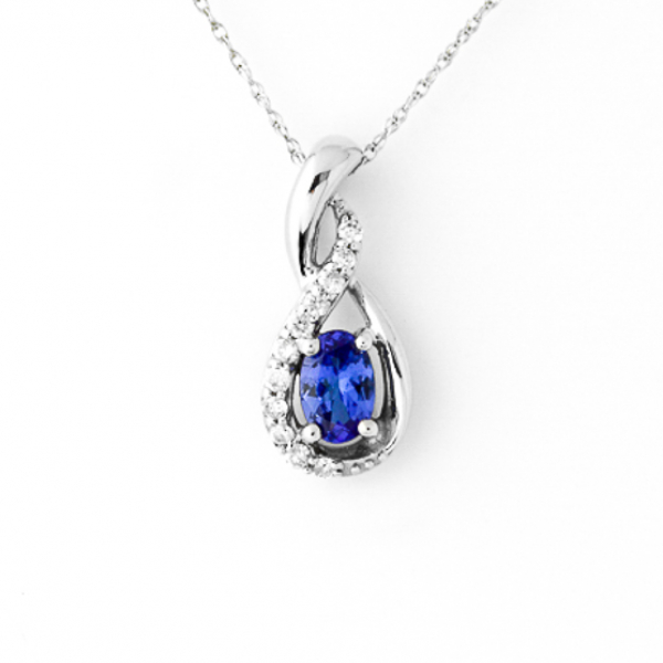 Tanzanite and Diamond Necklace by Parle