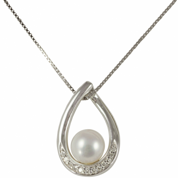 Pearl and Diamond Necklace by Imperial Pearls