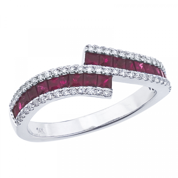 Ruby and Diamond Ring by Color Merchants