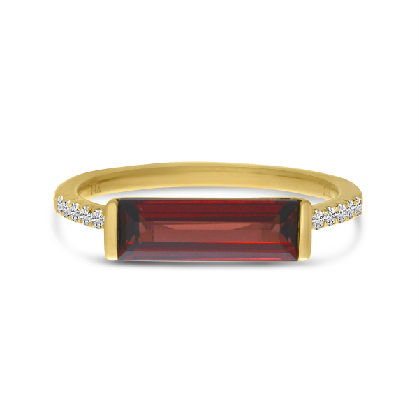 Garnet and Diamond Ring by Color Merchants